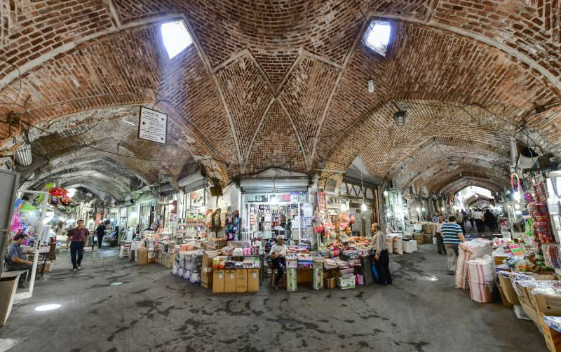 نمایی از بازار تبریز