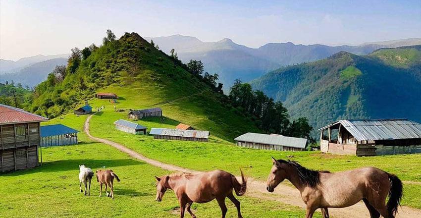 عکس طبیعت کوهستانی شاندرمن