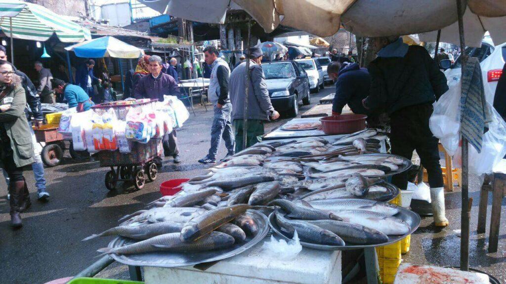 بازار ماهی فروشان بندر انزلی