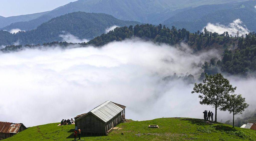 طبیعت و خانههای چوبی ییلاق اولسبلنگاه