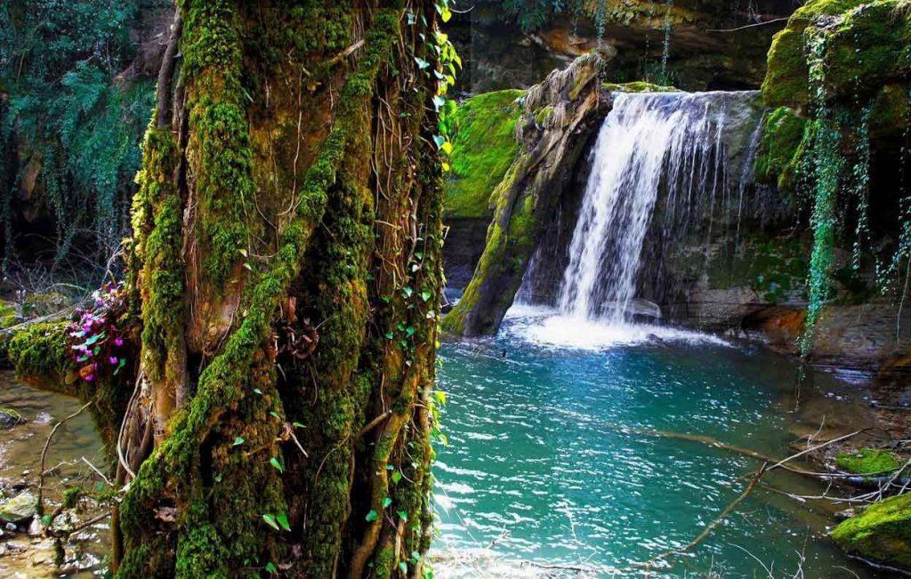تصویری از آبشاری در بهشت گمشده مرودشت