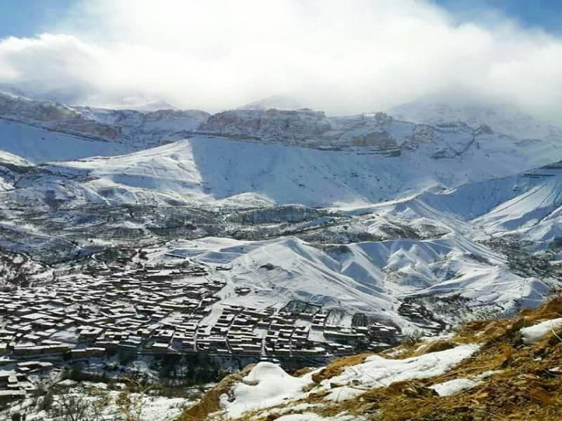 جهنم سفید پوشیده از برف اصفهان در زمستان