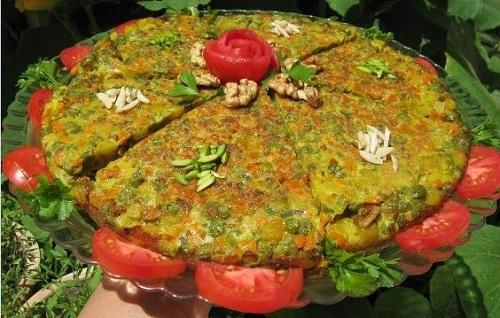 کوکوی لوبیا سبز، کوکوی خوش آب و رنگ تبریزی