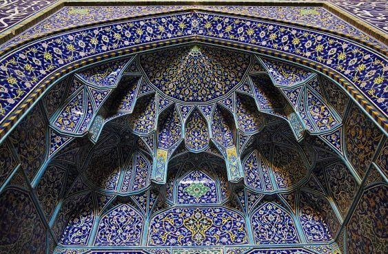 کاشی کاری های بی نظیر میدان امام اصفهان
