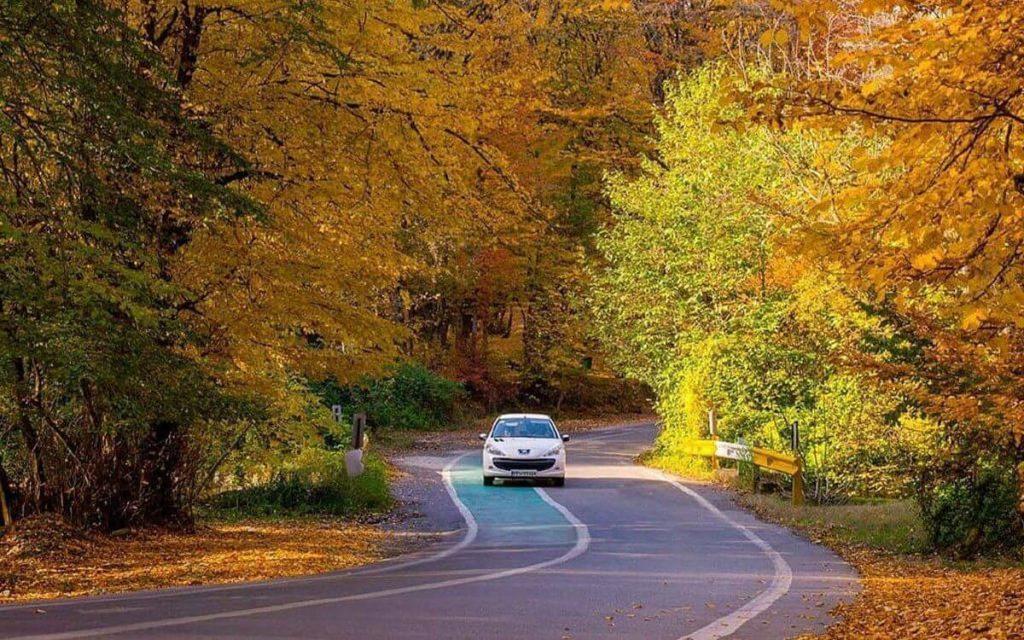 منظره پاییزی النگدره