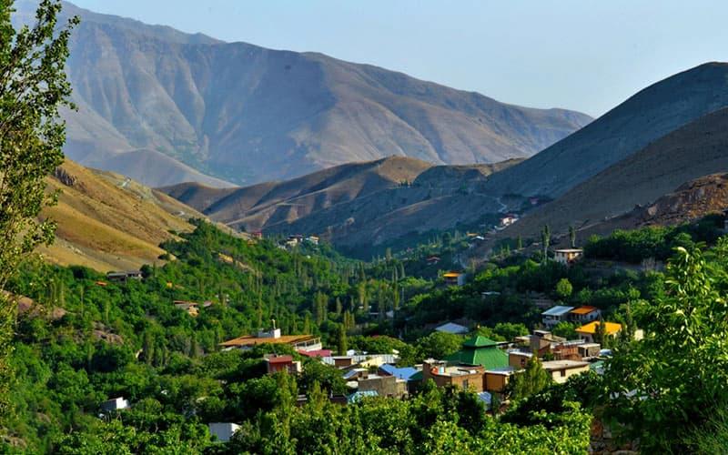 روستای افجه در شمال شرقی تهران
