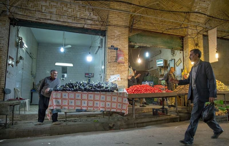 بازار توپخانه کرمانشاه